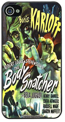 Boris Karloff Body Snatcher HD Quality Cover/Case Fits iPhone 4/4S Horror Movie