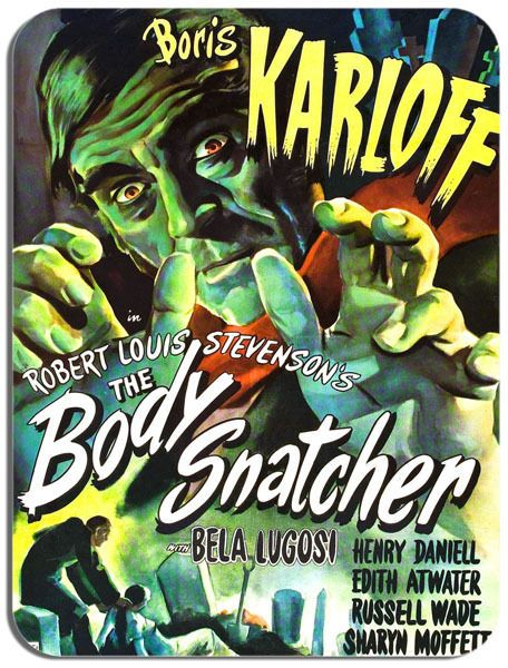 Boris Karloff The Body Snatcher  Mouse Mat Movie Poster Film Novelty Mouse pad