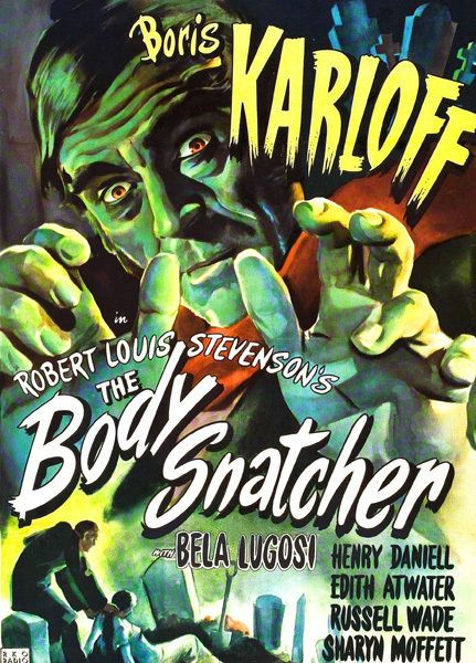 Boris Karloff The Body Snatcher T-Shirt 12 Sizes. Classic Vintage Horror Movie