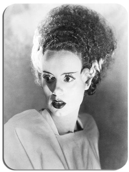 Bride Of Frankenstein Vintage Film Poster Mouse Mat Horror Movie Still Mouse Pad