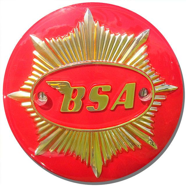 BSA Gold Star Badge Round Mouse Mat. Motorcycle Biker Motorbike Logo Mouse pad