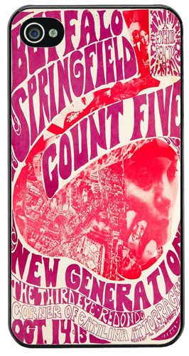Buffalo Springfield Count Five Vintage Poster HD Cover/Case Fits iPhone 4/4S
