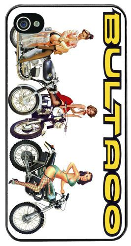 Bultaco Chicas Motorcycle High Quality Cover/Case For iPhone 4/4S Motorbike Gift