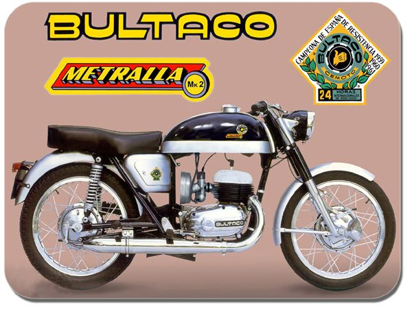 Bultaco Metralla MK2 Motorcycle Mouse Mat. Classic Bike Mouse Pad
