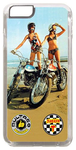 Bultaco Sherpa Motorcycle Cover/Case Fits iPhone 6 PLUS + /6 PLUS S. Motorbike