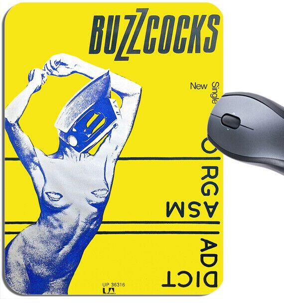 Buzzcocks Orgasm Addict Mouse Mat. Vintage Punk Rock Promo Poster Mouse Pad