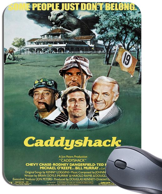 Caddyshack Movie Poster Mouse Mat High Quality Rodney Dangerfield Film Mouse Pad