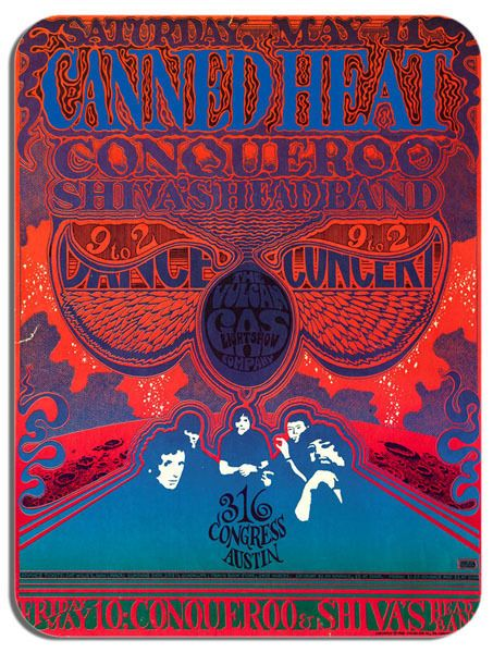 Canned Heat Concert Poster Mouse Mat Psychedelic Rock Mouse pad