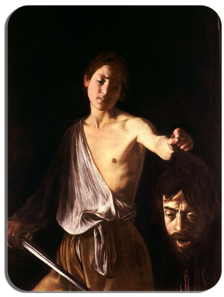 Caravaggio David and Goliath II Mouse Mat. High Quality Fine Art Mouse Pad Gift