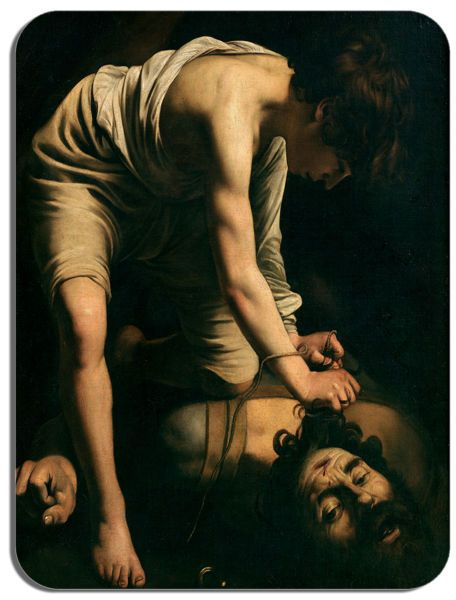 Caravaggio David and Goliath Mouse Mat. High Quality Fine Art Mouse Pad Gift