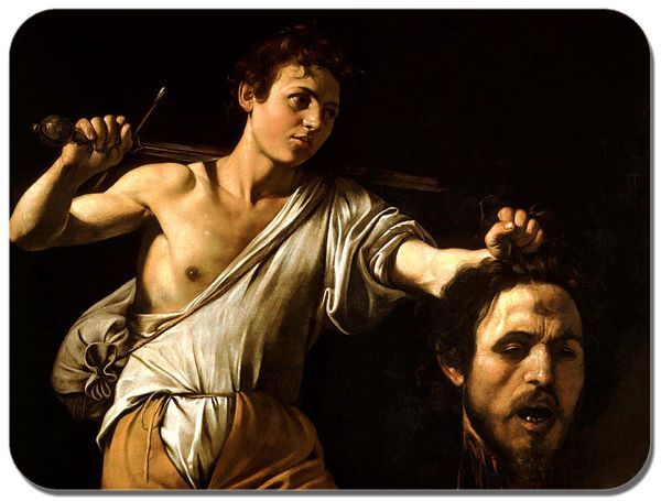 Caravaggio David With The Head of Goliath Mouse Mat. High Quality Art Mouse Pad