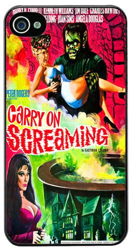 Carry on Screaming Vintage Movie Poster Cover/Case Fits iPhone 4/4S. Comedy Gift