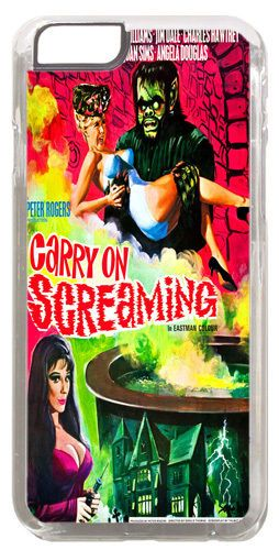 Carry on Screaming Vintage Movie Poster Cover/Case Fits iPhone 6/6S. Film Gift