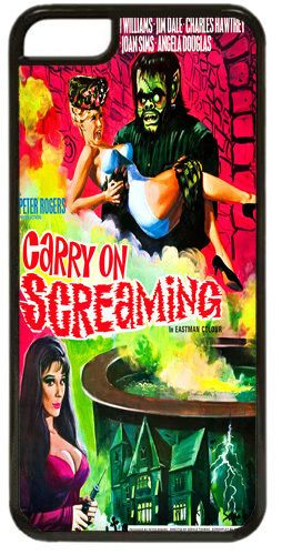 Carry on Screaming Vintage Movie Poster Cover/Case Fits iPhone 7/7S. Film Gift