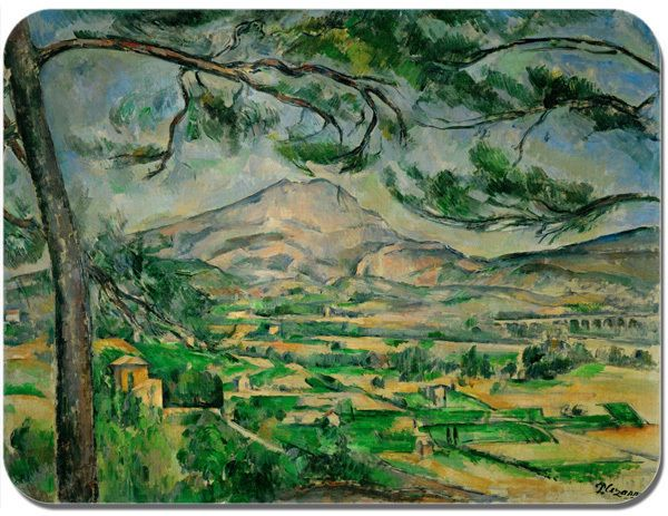 Cezanne Mont Sainte-Victoire Courtauld Mouse Mat High Quality Art Mouse Pad Gift