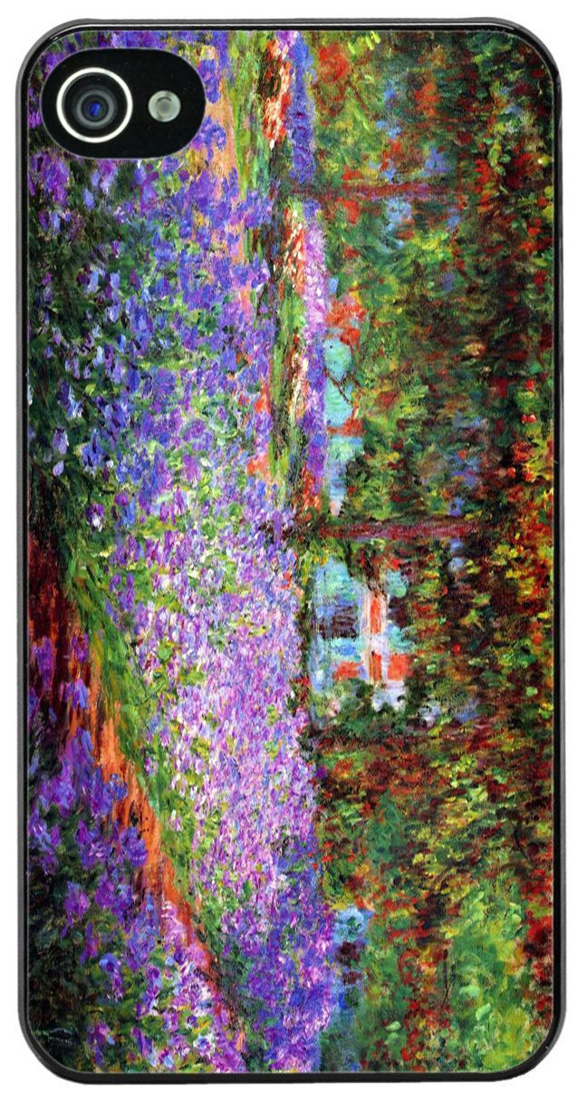 Claude Monet The Garden At Giverny High Quality Cover/Case For iPhone 4/4S. Art