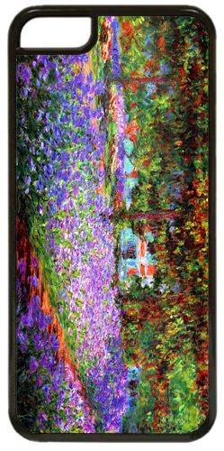Claude Monet The Garden At Giverny High Quality Cover/Case For iPhone 5C. Art