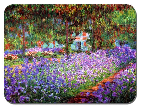 Claude Monet The Garden At Giverny Mouse Mat. High Quality Art Print Mouse Pad