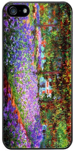 Claude Monet The Garden At Giverny Rubber Cover/Case For iPhone 5/5S. Art
