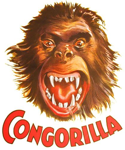 Congorilla T Shirt. Gorilla, Ape Monster Movie T Shirt