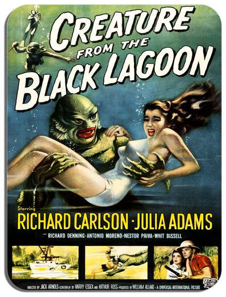 Creature From The Black Lagoon Movie Poster Mouse Mat B. Film Novelty Mouse pad
