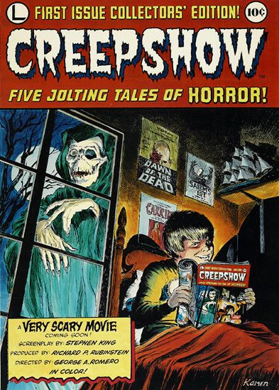 Creepshow  Film Poster T-Shirt. Gents Ladies Kids Sizes Creep Show Movie