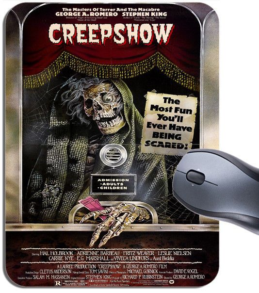 Creepshow Vintage Movie Poster Mouse Mat. Horror Film High Quality Mouse Pad