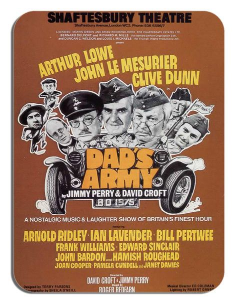 Dads Army Corporal Jones Clive Dunn Theatre Poster Mouse Mat. Novelty Mouse pad