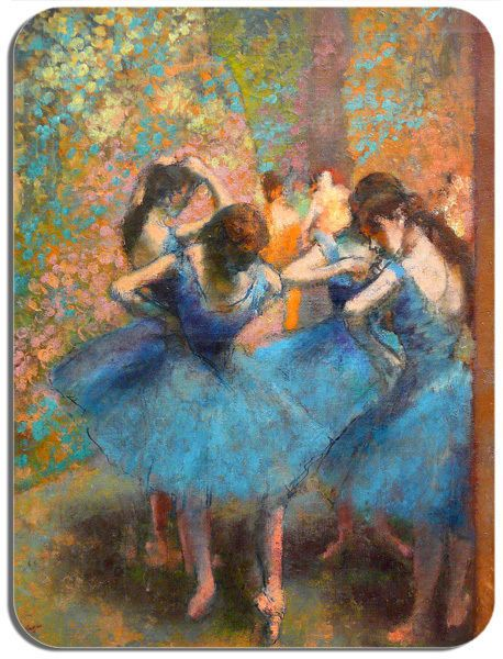 Dancers In Blue Edgar Degas Print Mouse Mat High Quality Art Mouse Pad Gift