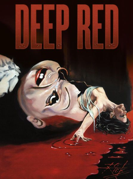 Dario Argento Deep Red Movie Poster T-Shirt Gents, Ladies & Kids Sizes. Horror