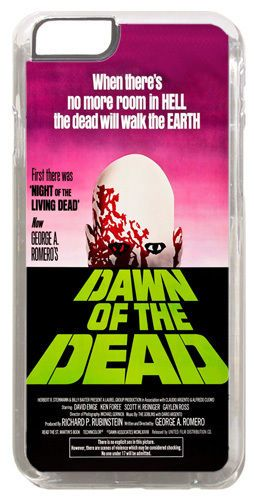 Dawn Of The Dead Movie Poster Cover/Case For iPhone 6/6S. Classic Horror Film