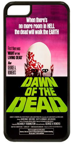 Dawn Of The Dead Movie Poster Cover/Case For iPhone 7/7S. Classic Horror Film