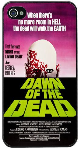 Dawn Of The Dead Vintage Movie Film Poster Cover/Case For iPhone 4/4S