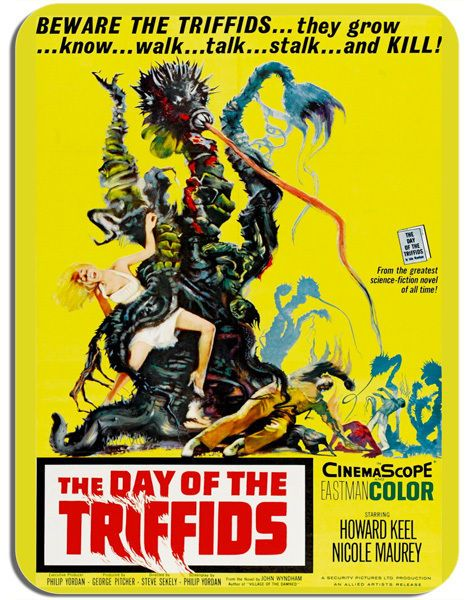 Day Of The Triffids Movie Poster Mouse Mat. Horror SciFi Film Novelty Mouse pad