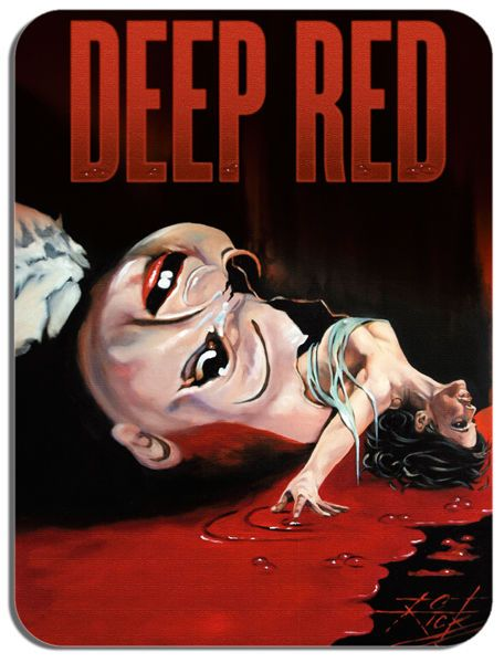 Deep Red Dario Argento Mouse Mat Horror Movie Poster Film Novelty Mouse pad