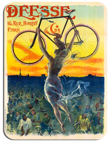 Deesse Vintage Bicycle Advert Mouse Mat High Quality Cycle Poster Bike Mouse pad