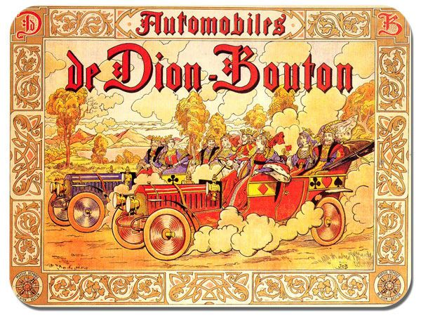Di Dion Bouton Advert Poster Mouse Mat. Classic Car Mouse pad Vintage Bicycle
