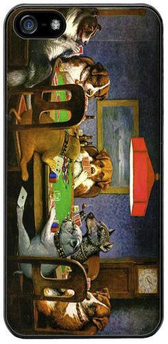 Dogs Playing Poker Superior Quality Case For iPhone 5/5S Cassius Coolidge Art