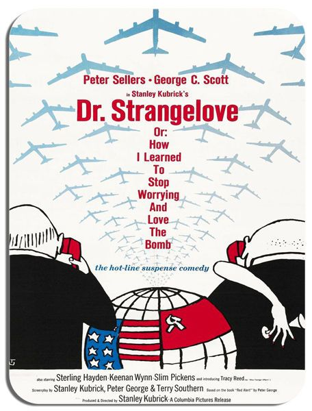 Dr Strangelove Mouse Mat. High Quality Film Movie Poster Mouse Pad Kubrick