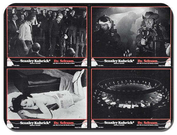 Dr Strangelove Mouse Mat. Rare German Film Movie Poster Mouse Pad Kubrick