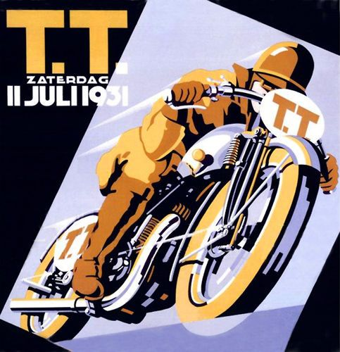 Dutch TT Vintage Poster Motorcycle T-Shirt. Gents, Ladies & Kids Sizes Motorbike
