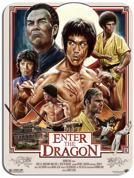 Enter The Dragon Movie Mouse Pad.  Bruce lee Poster Mouse Mat