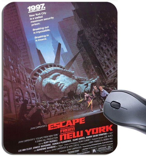Escape From New York Vintage Movie Poster Mouse Mat. High