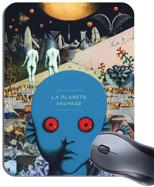Fantastic Planet La Planete Sauvage Movie Poster Mouse Mat. Film Mouse Pad