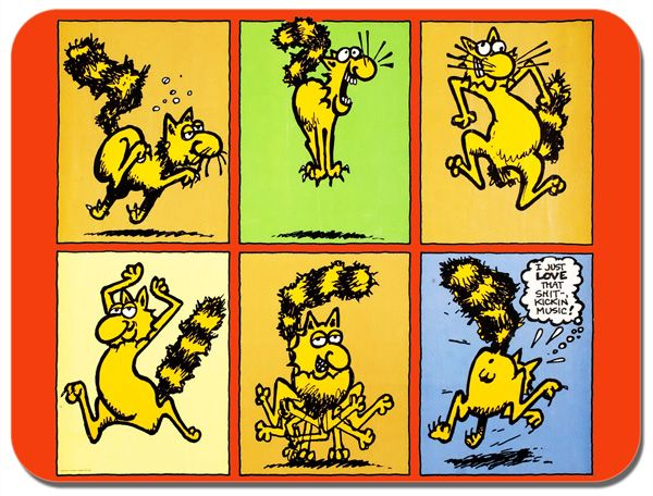 Fat Freddy's Cat S**t Kickin Music Mouse Mat. Freak Brothers Mouse Pad