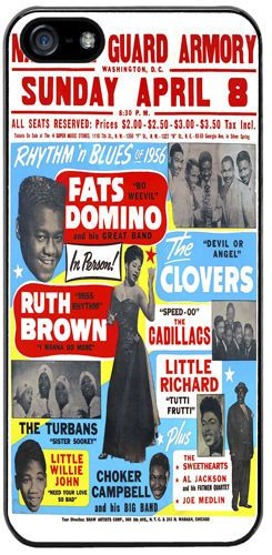 Fats Domino, Little Richard, Ruth Brown R&B Rubber Cover/Case Fits iPhone 5/5S