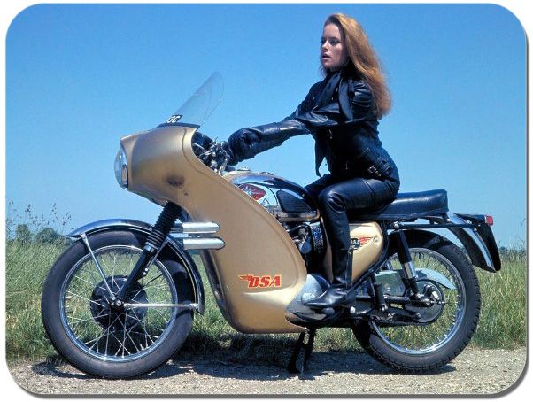 Fiona Volpe Motorcycle Mouse Mat. James Bond Thunderball Poster Mouse Pad