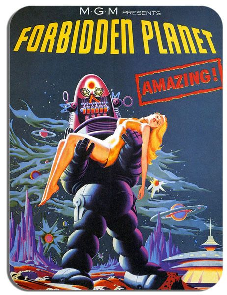 Forbidden Planet Mouse Mat Movie Poster Film Novelty Mouse pad