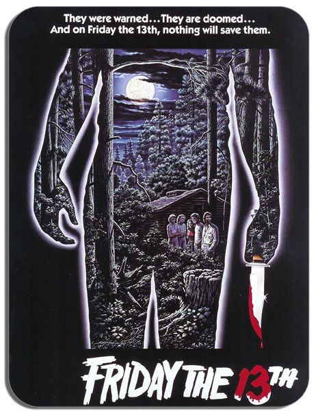 Friday The 13th Vintage Film Poster Mouse Mat. Horror Movie HD Quality Mouse Pad