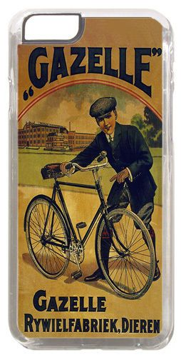 Gazelle Vintage Bicycle Ad Poster Cover/Case Fits iPhone 6 PLUS + /6 PLUS S